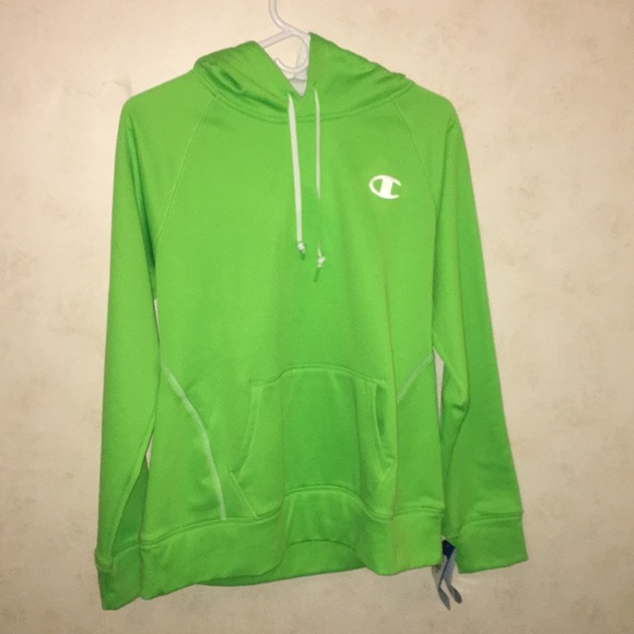 various kinds of moderate cost new arrival Lime Green Champion Hoodie !